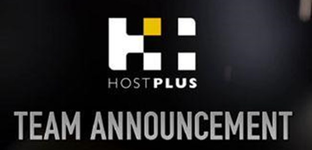 Rd. 16 HOSTPLUS Team Announcement