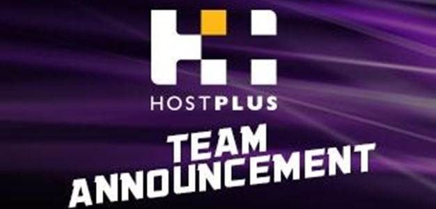 Rd.14 HOSTPLUS Team Announcement