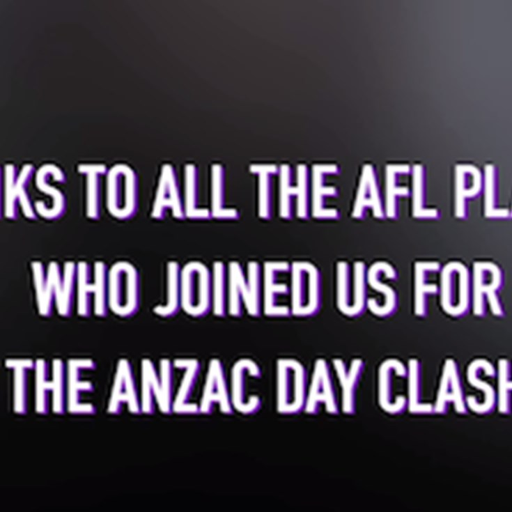 AFL Players visit Melbourne Storm match