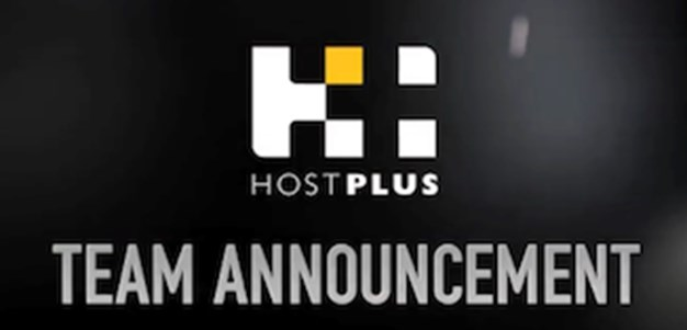Rd. 12 HOSTPLUS Team Announcement