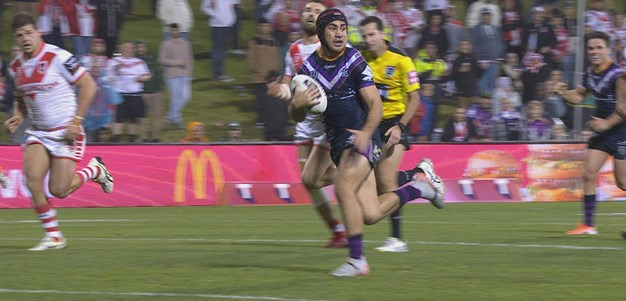 Hughes finishes after props break it open