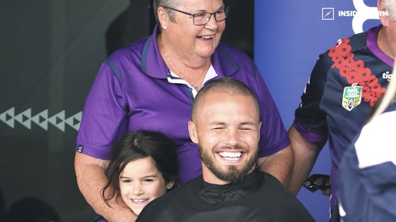 Sandor Earl and Craig Bellamy shave for a cure