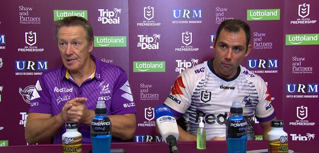 Round 1: Craig Bellamy and Cameron Smith speak post game