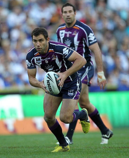 Cam Smith: NRL - Grand Final, Melbourne Storm v Canterbury Bulldogs, ANZ Stadium, Sunday 30th September 2012. Photo: Copyright © Renee McKay/Action Photographics