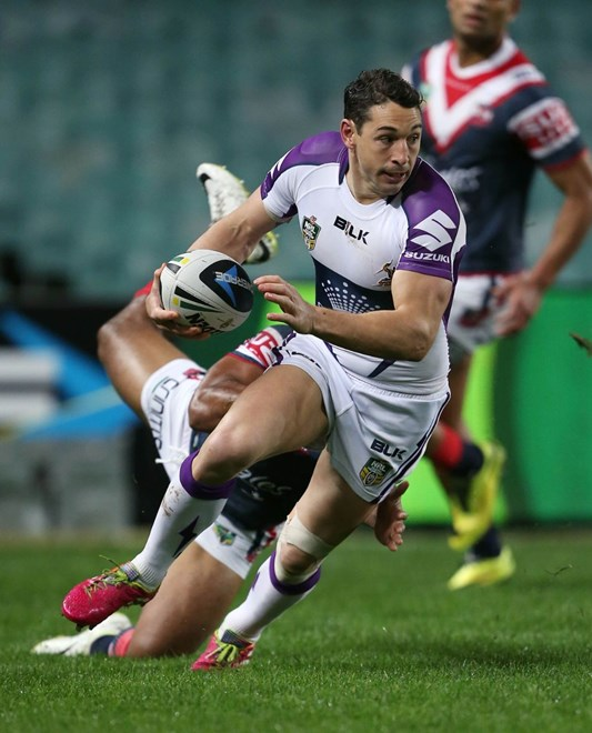 Digital Image by Robb Cox ©nrlphotos.com: Billy Slater :NRL Rugby League - Round 25, Sydney Roosters V Melbourne Storm at Allianz Stadium, Saturday August 30th 2014.