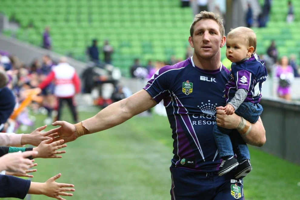 Digital Image by Ian Knight © nrlphotos.com: NRL, Rugby League, Round 15, Melbourne Storm v Parramatta Eels @ AAMI Park, Melbourne, VIC, Sunday June 22nd, 2014.