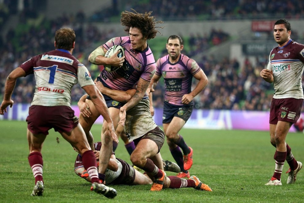 Digital Image by Brett Crockford © nrlphotos.com :	    Kevin Proctor   NRL, Rugby League, Round 9, Melbourne Storm v  Manly-Warringah Sea Eagles @ AAMI Park, Melbourne, VIC, Saturday May 10th, 2014.