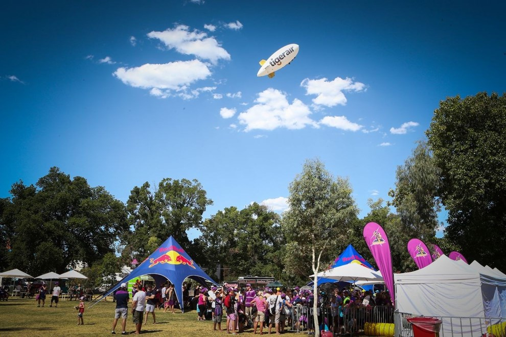 Melbourne turned on a picture perfect day for the 2014 Melbourne Storm Family Day held on Gosch's Paddock.