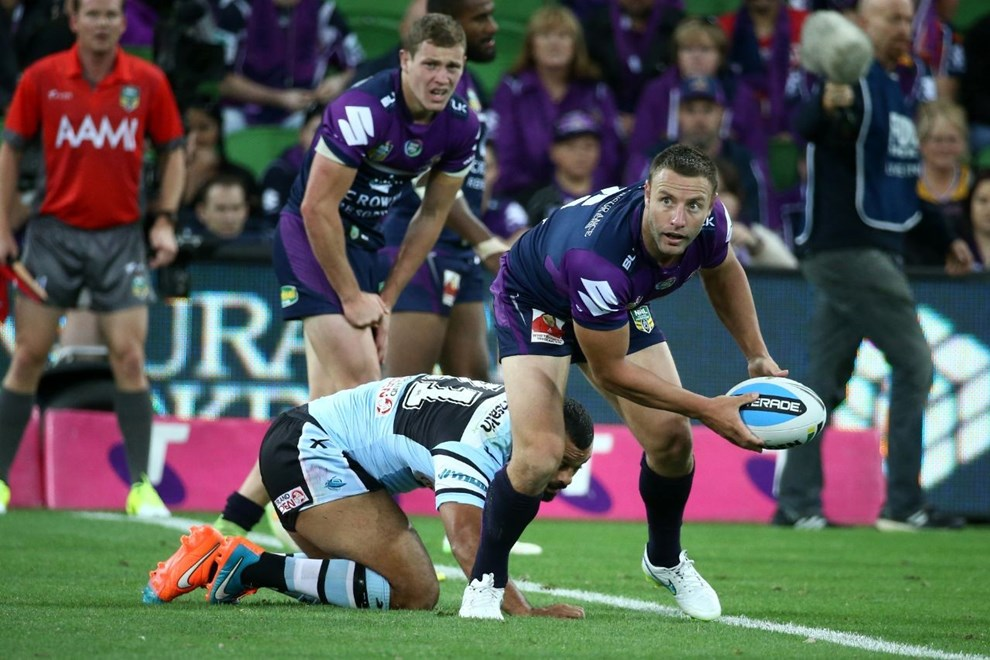 Blake Green   Digital Image by Brett Crockford ©nrlphotos.com :	    NRL, Rugby League, Round 3,  Melbourne Storm v  Cronulla-Sutherland Sharks @ AAMI Park, Melbourne, VIC, Saturday 21 March, 2015.