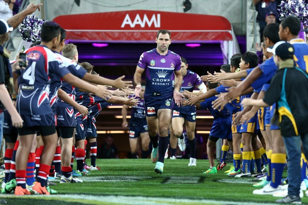 Cameron Smith   Digital Image by Brett Crockford ©nrlphotos.com :	    NRL, Rugby League, Round 3,  Melbourne Storm v  Cronulla-Sutherland Sharks @ AAMI Park, Melbourne, VIC, Saturday 21 March, 2015.