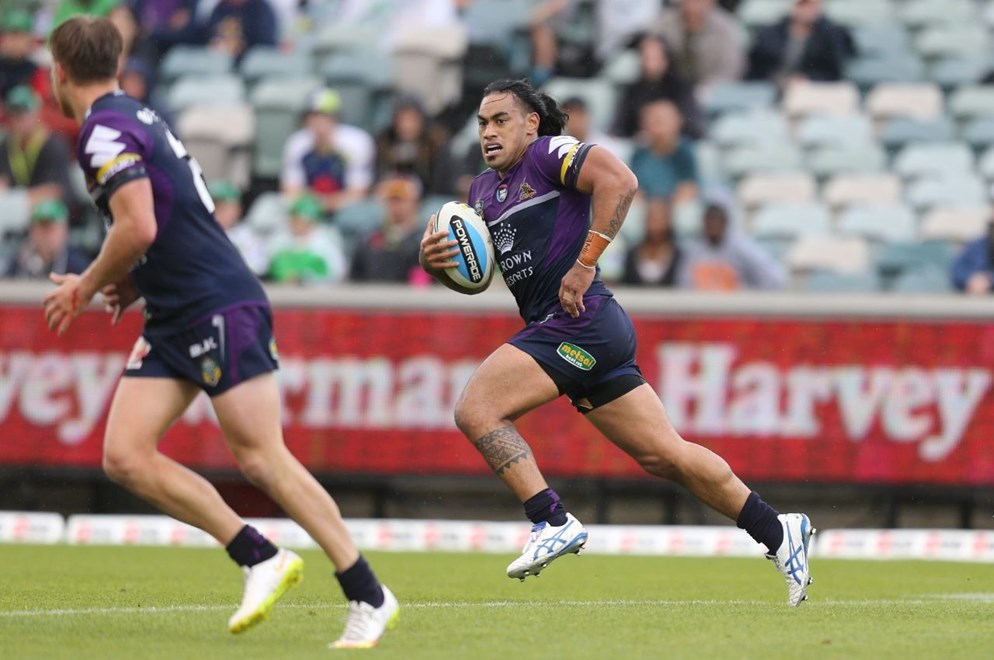 Rain : Digital Image Grant Trouville  © nrlphotos : NRL Rugby League - Round 6 : Canberra Raiders v Melbourne Storm at Canberra Stadium Sunday April 12th 2015.