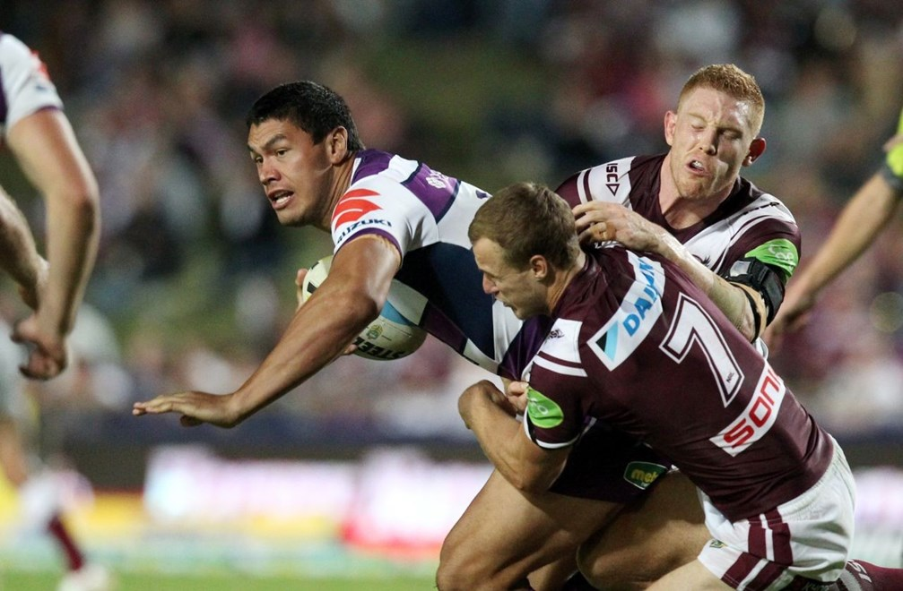 Jordan McLean  :Digital Image by Chris Lane © NRLphotos  : 2015 NRL Round 2 – Manly Sea Eagles  V Melbourne Storm  at Brookvale Oval, Saturday March 14th 2015.
