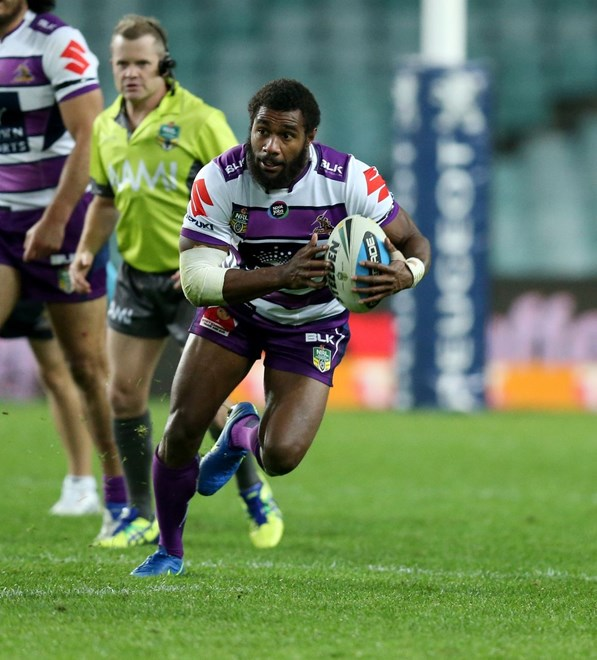 :Digital Image Grant Trouville © NRLphotos  : NRL Rugby League Round 12 - Sydney Roosters v Melbourne Storm at SFS Allianz Stadium,Monday June 1st  2015.