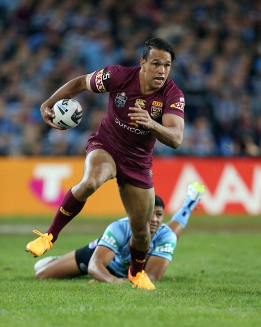 Will Chambers : Digital Photograph by Robb Cox © NRL Photos : Representative Rugby League, New South Wales Vs Queensland at ANZ Stadium, Homebush. Wedenesday 27th May 2015.