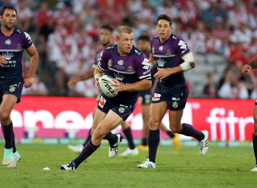 Ryan Hinchcliffe : Digital Image by Robb Cox ©nrlphotos.com:  :NRL Rugby League - St George Illawarra Dragons V Melbourne Storm at Jubilee Oval, Kogarah. Monday March 9th 2015.