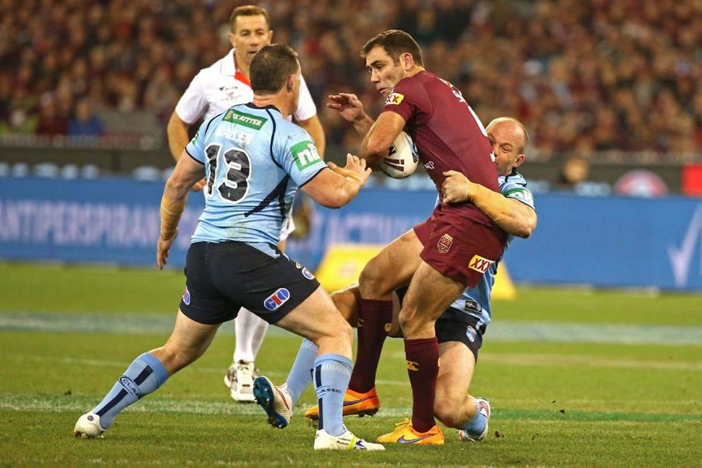 Cameron Smith (c)   Digital Image by Brett Crockford ©nrlphotos.com :	    NRL, Rugby League, State of Origin 2,  Queensland v New South Wales @ MCG, Melbourne, VIC, Wednesday 17 June, 2015.