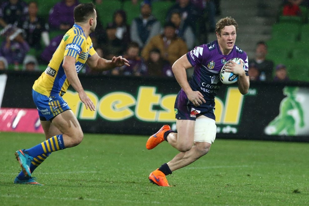 Kurt Mann   Digital Image by Brett Crockford ©nrlphotos.com :	    NRL, Rugby League, Round 14, Melbourne Storm v  Parramatta Eels @ AAMI Park, Melbourne, VIC, Monday 15 June, 2015.