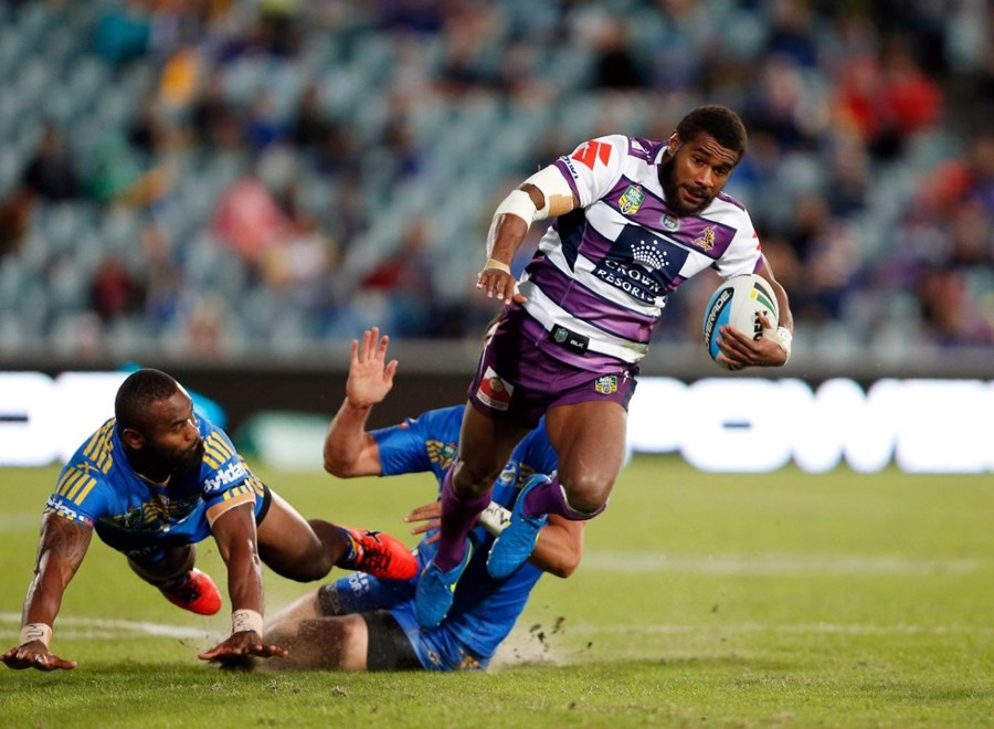 Markia Koroibete : Digital Image by Robb Cox ©nrlphotos.com: :NRL Rugby League - Parramatta Eels V Melbourne Storm at Parramatta Stadium, Sunday May 10th 2015.