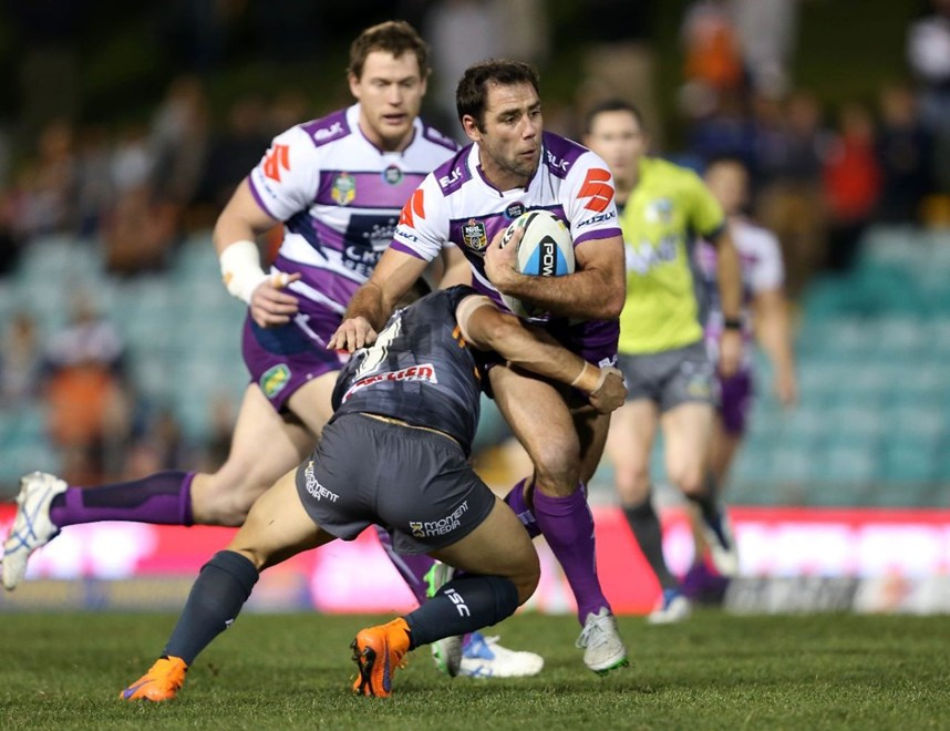 Cameron Smith : NRL Rugby League - Tigers V Storm at Leichhardt Oval, Friday July 31st 2015. Digital Image by Robb Cox ©nrlphotos.com