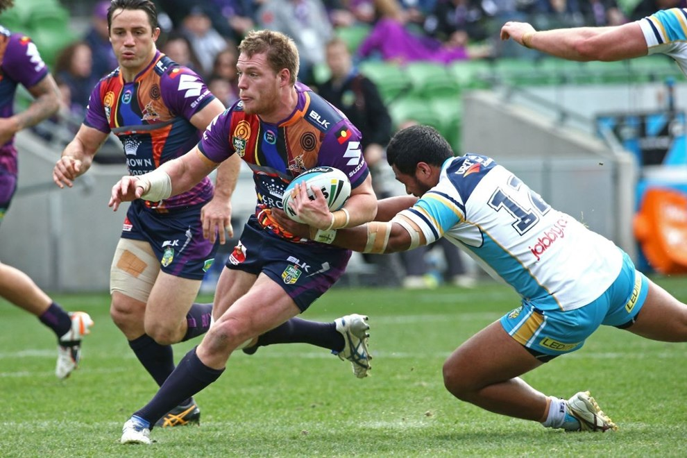 Tim Glasby   Digital Image by Brett Crockford ©nrlphotos.com :	    NRL, Rugby League, Round 22,  Melbourne Storm v Gold Coast Titans @ AAMI Park, Melbourne, VIC, Sunday 09 August, 2015.