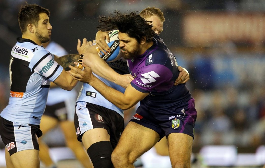 Digital Image by Chris Lane copyright nrlphotos.com: Tohu Harris : 1st Grade Round 23 - Cronulla Sharks vs Melbourne Storm at Remondis Statdium Monday August 17th 2015