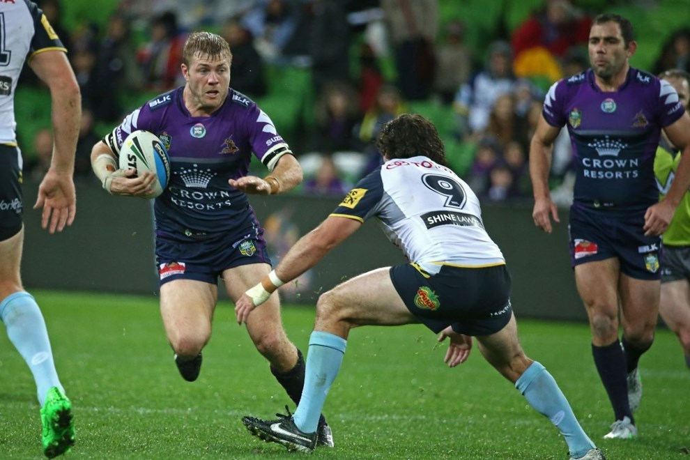 Ryan Hinchcliffe   Digital Image by Brett Crockford ©nrlphotos.com :	    NRL, Rugby League, Round 25,  Melbourne Storm v North Queensland Cowboys @ AAMI Park, Melbourne, VIC, Saturday 29 August, 2015.