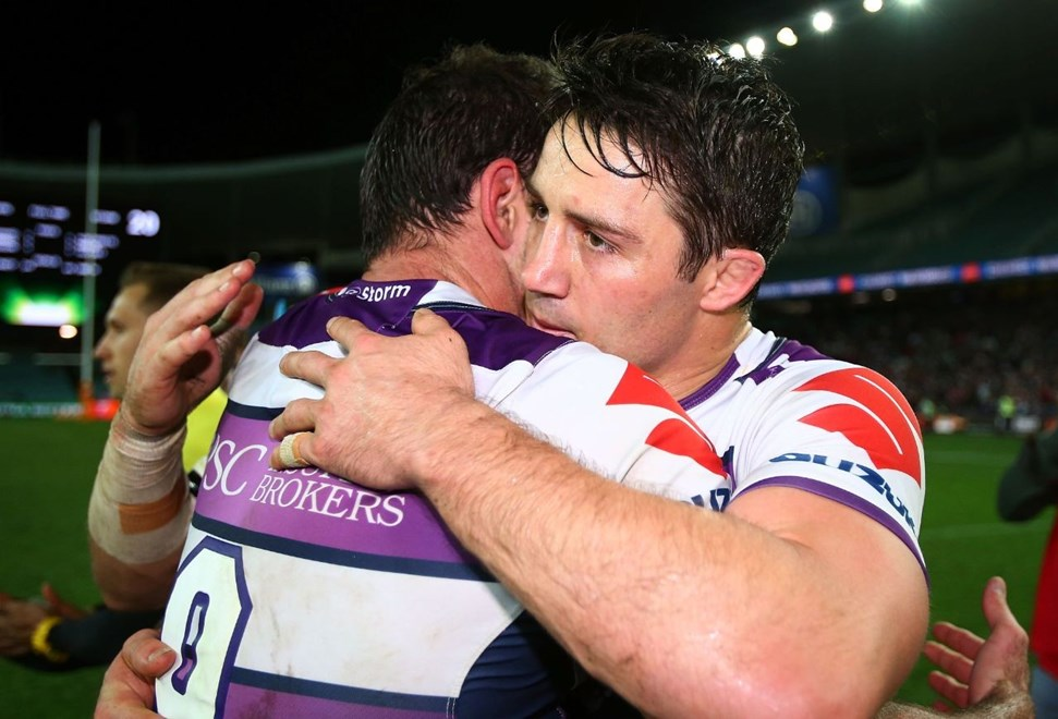 Cooper Cronk of the Storm : NRL week one finals match between the Sydney Roosters and the Melbourne Storm at Allianz Stadium on September 11, 2015 in Sydney, Australia. Digital Image by Mark Nolan.