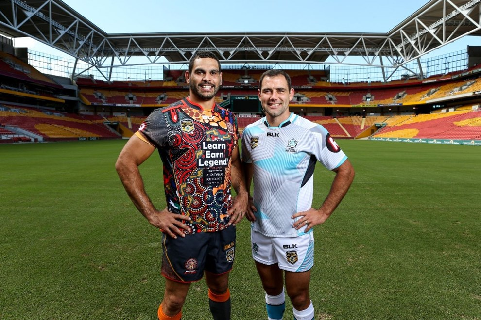 ALL STARS WEEK, All Stars Team Photos and Captain portraits, Suncorp Stadium  :Digital Image  Grant Trouville © NRLphotos  : NRL Rugby League - 2016 Indigenous Allstars v World Allstars Brisbane QLD. Sunday February 9th 2016.