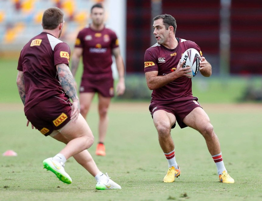 Cameron Smith : Digital Image Charles Knight © NRLphotos. NRL Rugby League, State of Origin I training session, Brisbane, May 19th 2015.