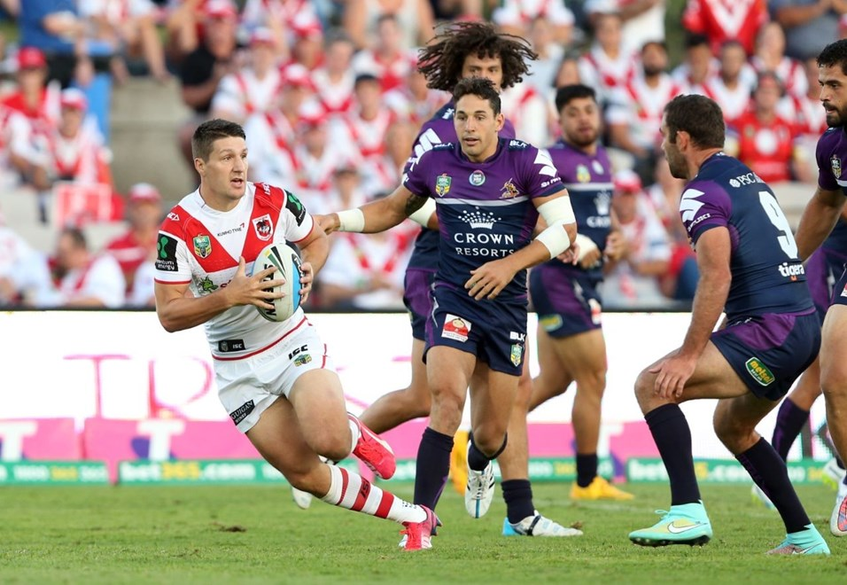 u : Digital Image by Robb Cox ©nrlphotos.com:  :NRL Rugby League - St George Illawarra Dragons V Melbourne Storm at Jubilee Oval, Kogarah. Monday March 9th 2015.