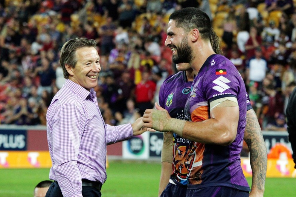 Competition - NRL Premiership  Round - Round 10 Teams - Melbourne Storm v North Queensland Cowboys  Date - 14th May 2016  Venue - Suncorp Stadium, Brisbane QLD Photographer - Kylie Cox