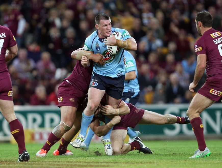 Paul Gallen :Representative Rugby League - QLD V NSW State of Origin, Suncorp Stadium, Wednesday July 8th 2015. Digital Image by Robb Cox ©nrlphotos.com