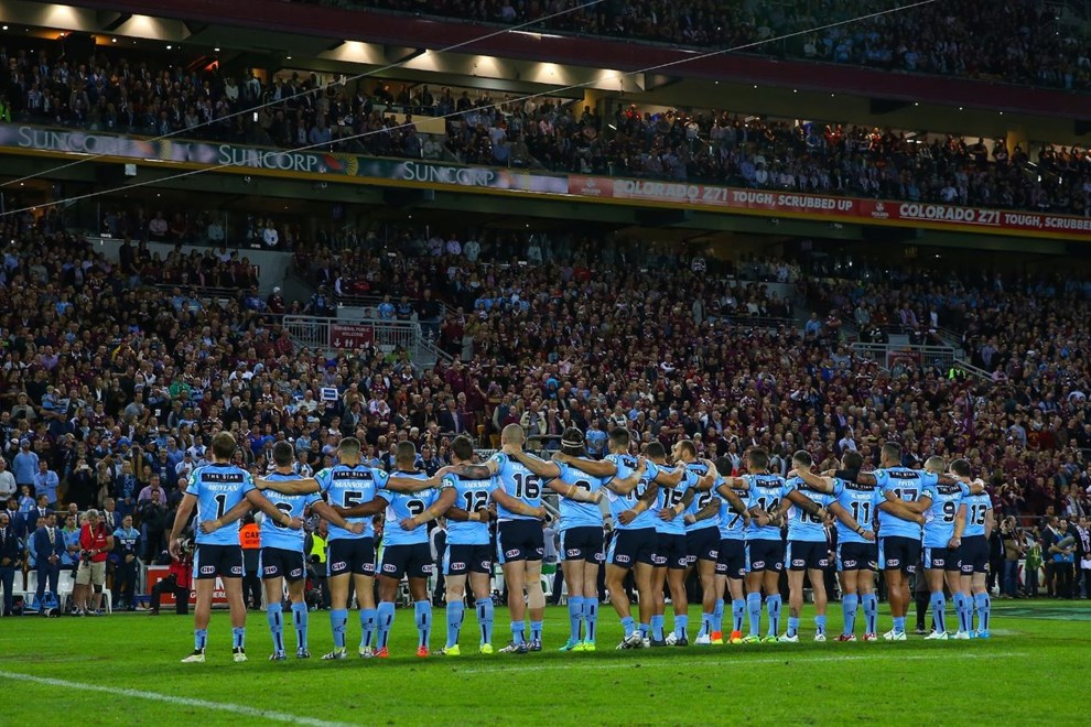 Competition - State of Origin. Round - Game 2. Teams - Queensland Maroons v NSW Blues. Date - 22nd of June 2016. Venue - Suncorp Stadium, QLD. Photographer - Paul Barkley.