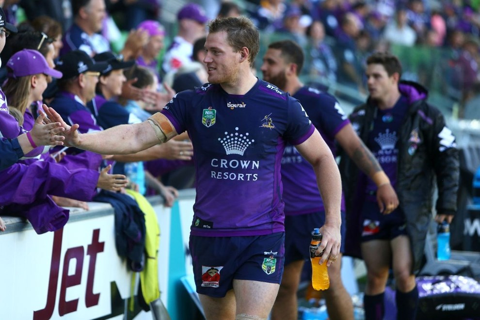 NRL Premiership - Round 05 - Melbourne Storm V Newcastle Knights - 02 April 2016 - AAMI Park, Melbourne, Vic - Ian Knight