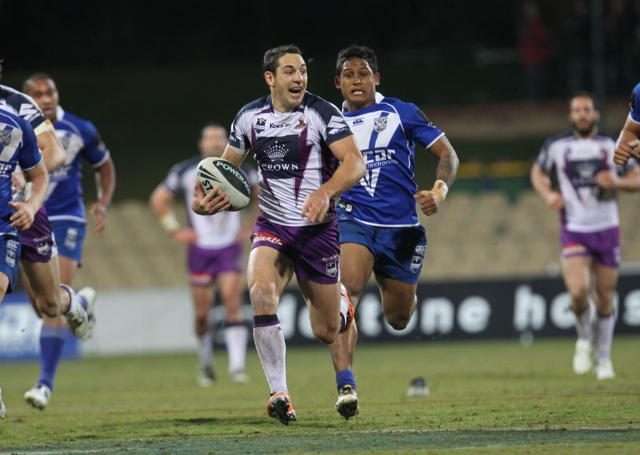 Billy Slater enjoys getting away from Ben Barba:	Rugby League