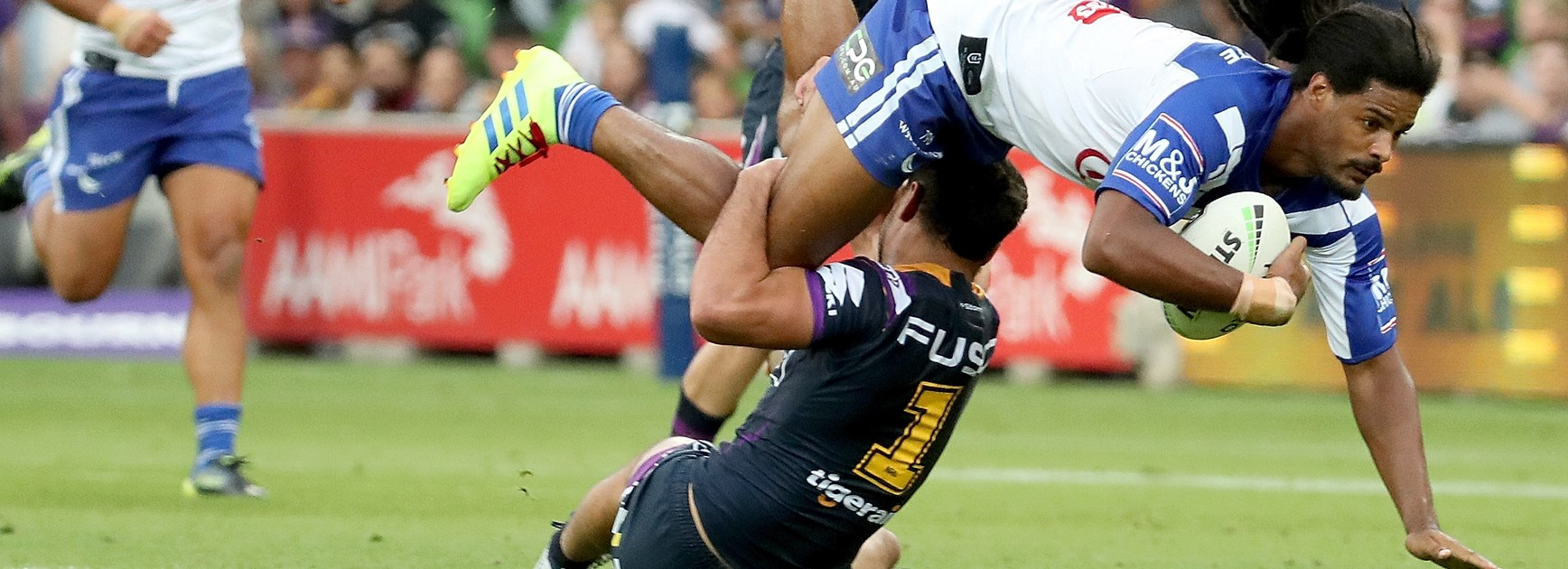Hughes recalls how he tackled Bulldogs winger Okunbor