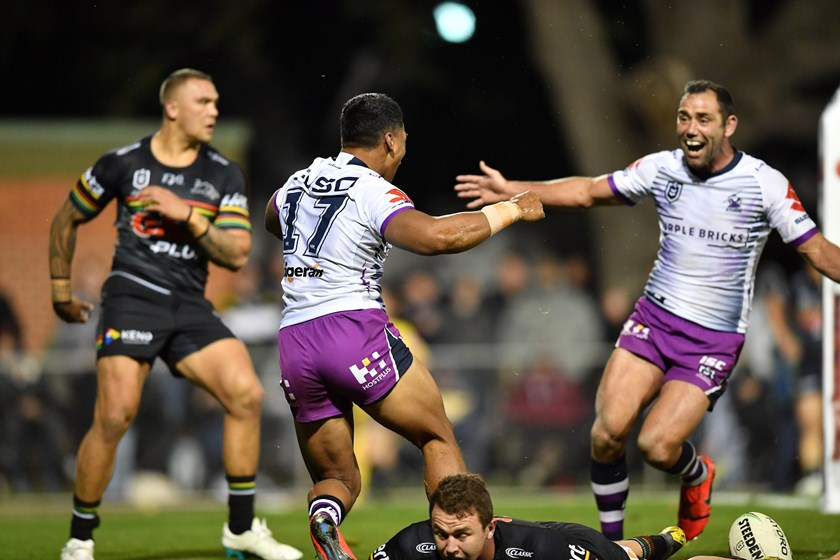 Seve's first NRL try in round three, 2019.