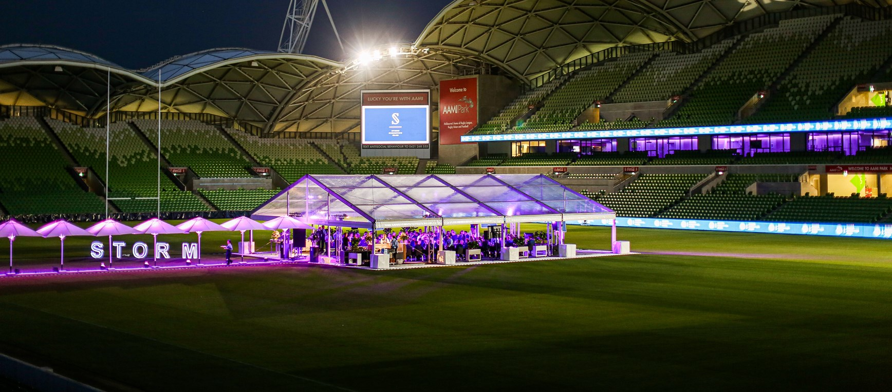Storm Executive Club launched on AAMI Park turf